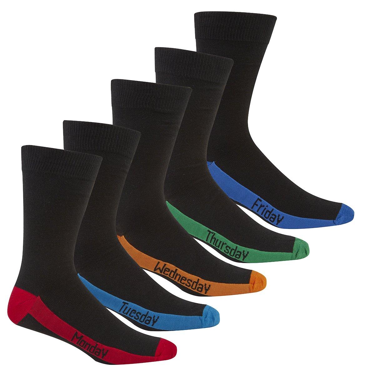 distinti per giorni della settimana calzini con punta e tallone colorati da uomo taglie da 39 a 46 Pierre Roch/é
