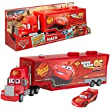 Mattel Disney Pixar Cars 2 - Mack Truck Carry Case & Car Lightning McQueen