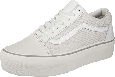 b95db3b587 Vans UA Old Skool Platform White Leather Adult Trainers: Amazon.de: Schuhe  & Handtaschen