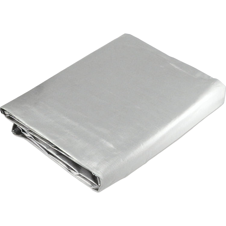 12 x 20 Silver Triple Layer Tarp Heavy Duty Tarpaulin Neiko