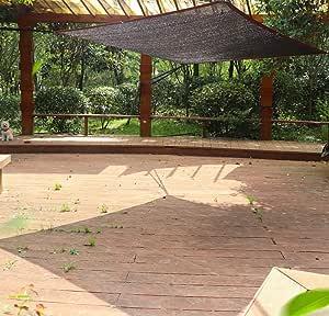 E.enjoy Malla Sombra De Red Tela De Bloqueador Solar Negro Cuerda Resistente A Los Rayos UV Patio Pérgola Toldo Ventilación Permeable (Size : 200cm x 200cm): Amazon.es: Hogar