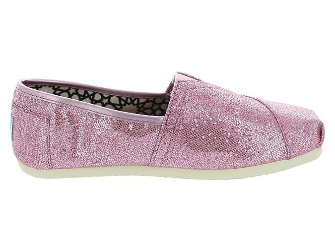 3c56993b437c Amazon.com | TOMS Womens TOMS GLITTER CLASSICS CASUAL SHOES 5.5 (PINK  GLITTER) | Flats