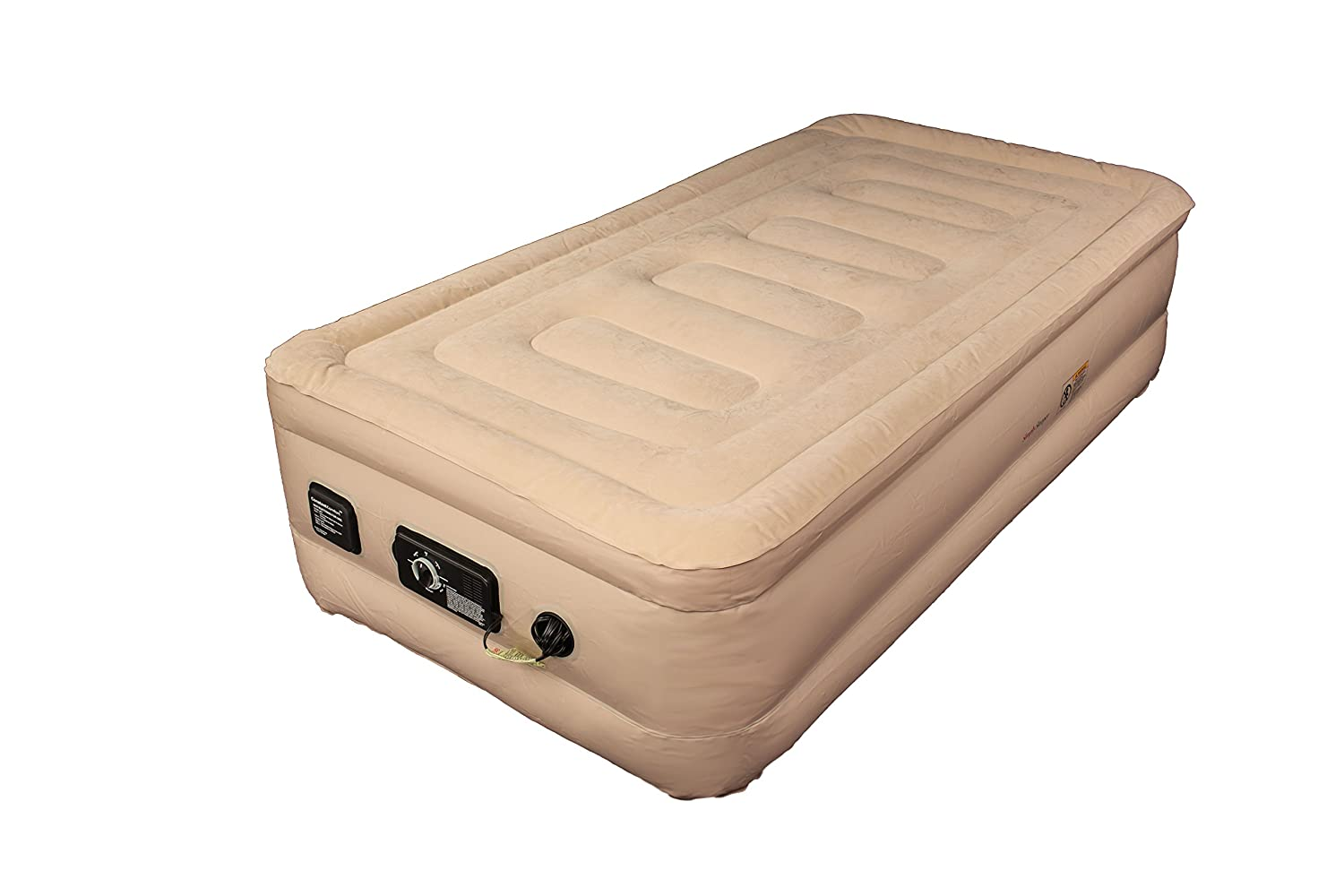 SimplySleeper SS-49T Raised Twin Air Bed (Inflatable Air Mattress) with Built-in Electric Pump