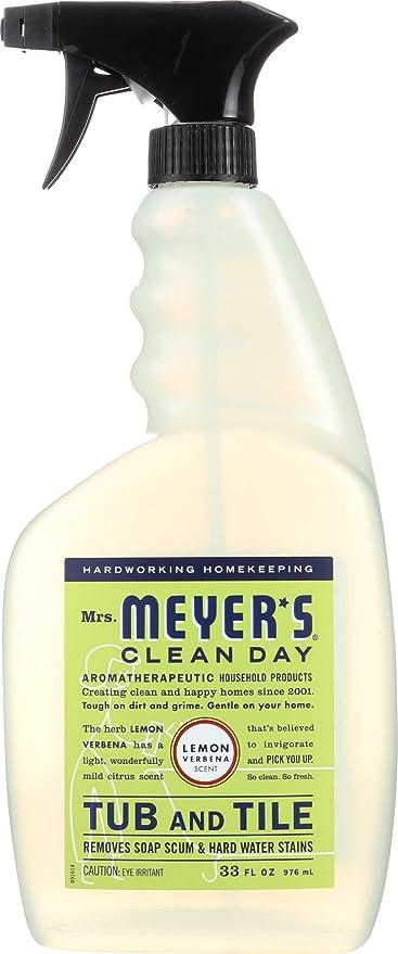 Amazon Com Mrs Meyer S Tub And Tile Cleaner Lemon Verbena 33 Fluid Ounce Health Personal Care