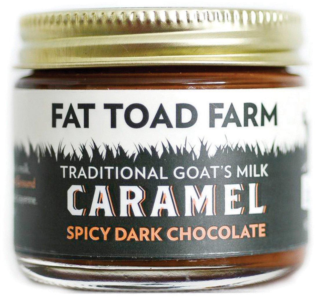 Fat Toad Farm Traditional Goats Milk Caramel Sauce, Spicy Dark Chocolate, 2fl oz Jar