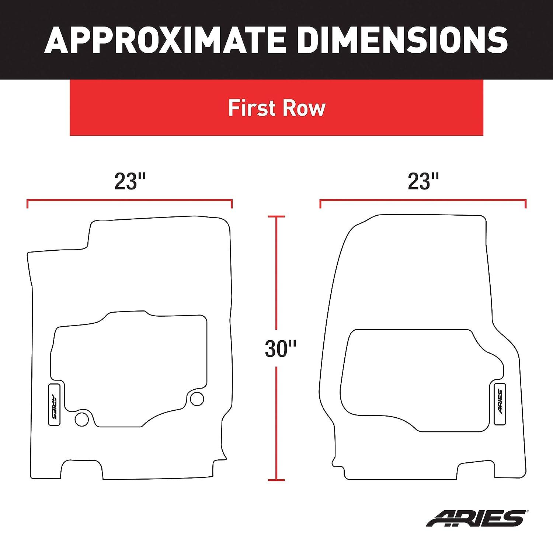 ARIES DG01811809 StyleGuard XD Black Custom Truck Floor Liners Dodge Ram 1500 1st Row Only