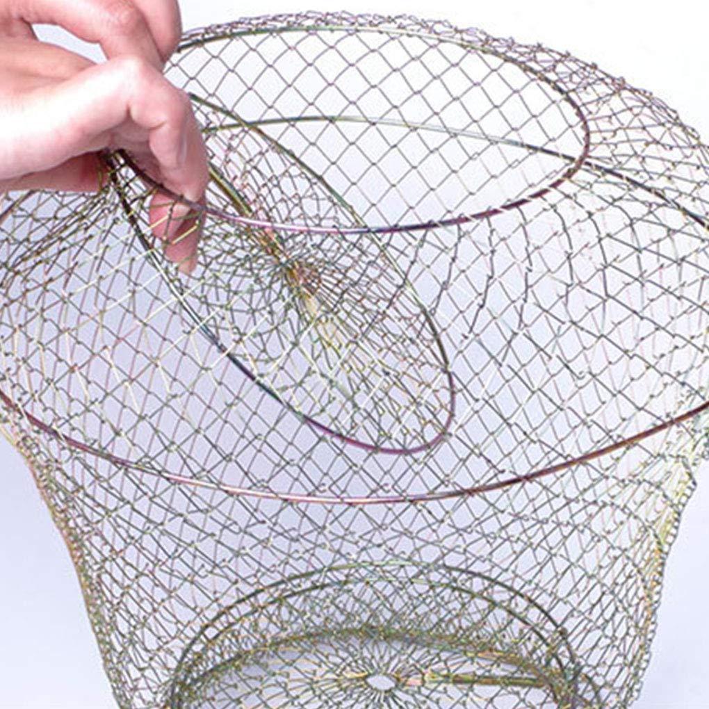 Boburyl Hummer-Mesh-Fischnetz-Garnele Krabbe K/äfig Folding-Trap-Net Faltbare Angeln Trap-Net Metalldraht Fisch Shrimp Cage Faltbare Angeln Basket