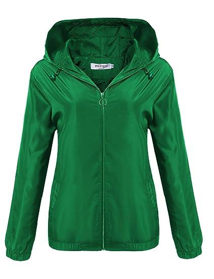 2e915e559 SUNAELIA Rain Jacket Women Waterproof with Hooded Lightweight Raincoat  Active Outdoor Windbreaker Trench Coat