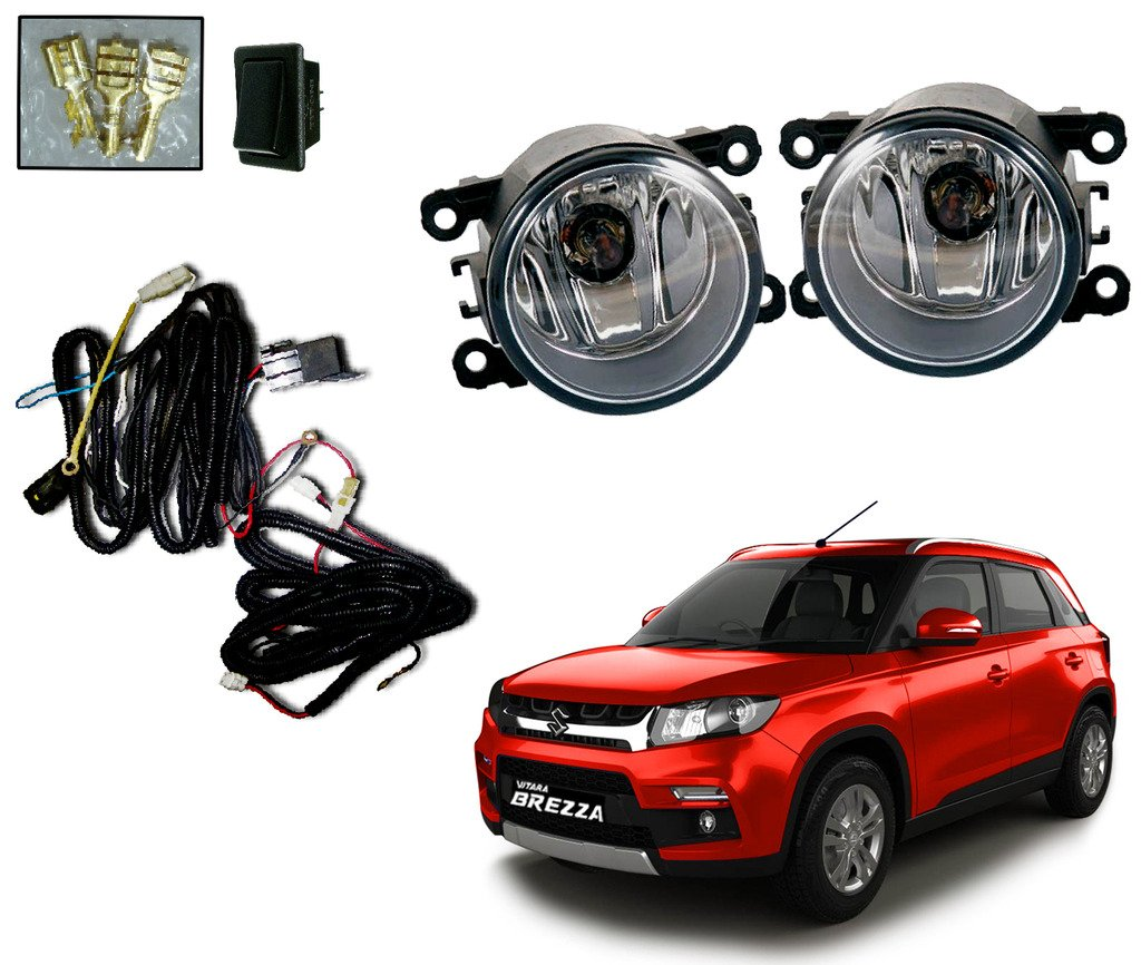 auto pearl premium quality car fog lamp lights with wiring kit and