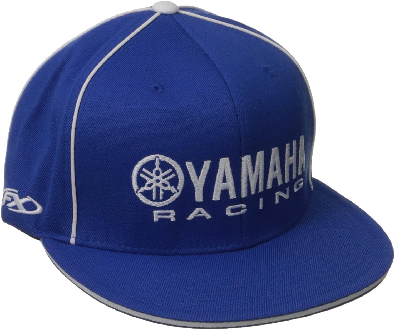 Factory Effex 12-88074 Yamaha Racing Flex-Fit Hat Black//Blue, Small//Medium
