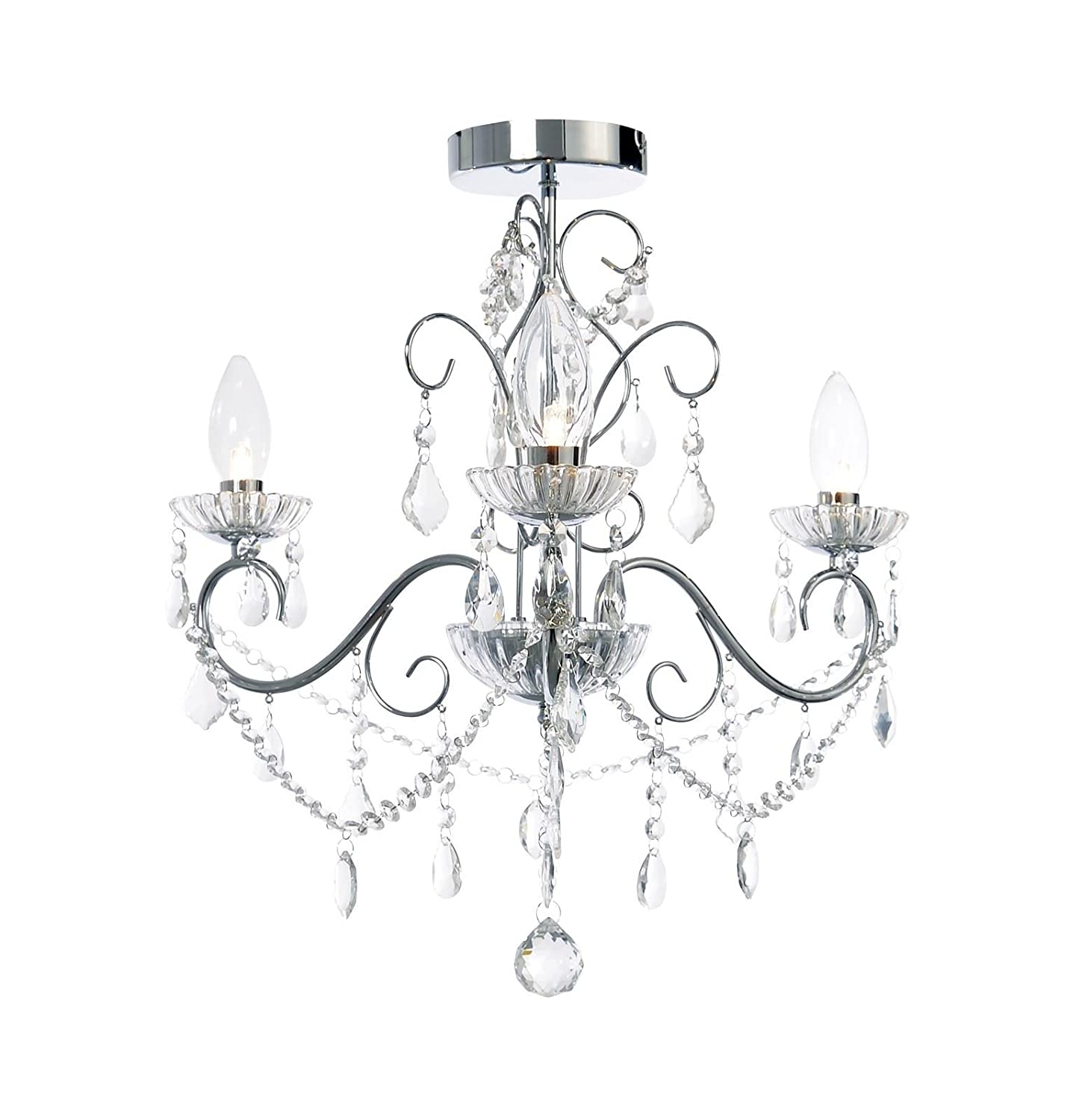 Forum Lighting 3 Light Bathroom Chandelier - Beautiful Elegant Decorative Chandelier SPA-20182-CHR Forum Lighting Solutions