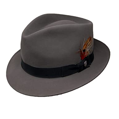 579d3622610 Stetson Benchley Beaver Fur Felt Fedora at Amazon Men s Clothing store