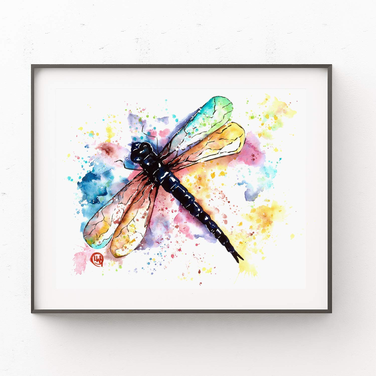 Dragonfly 8x10 FT Photo Backdrops,Bugs Leaves Branches Flowers Dandelions Abstract Art Print Background for Baby Shower Birthday Wedding Bridal Shower Party Decoration Photo Studio