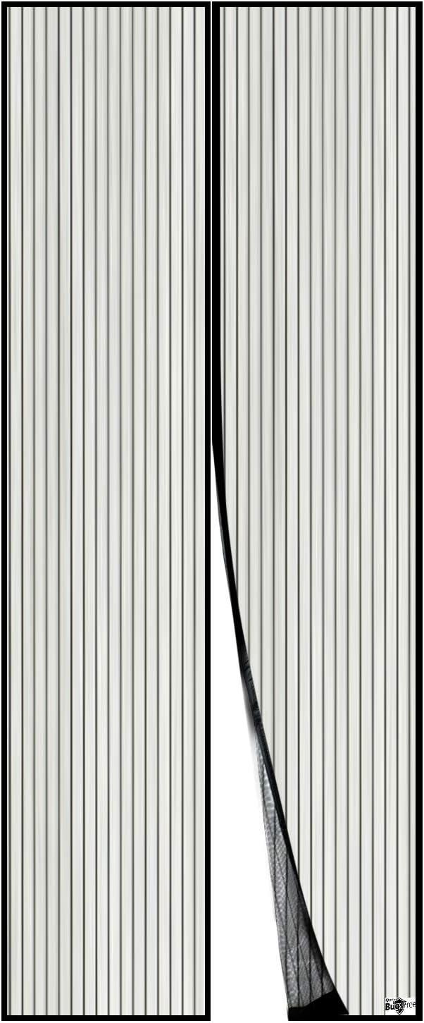 Insektenschutz-Schwarz 90x230cm Magnet Automatisch zu Vorhang T/ür Mit Selbstklebend Haken /& flausch Klettband /& Rei/ßzwecken TopJi/ä Magnetisch Fliegengitter T/ür 90x230cm 35x90
