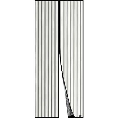 Apalus Cortina Mosquitera Para Puertas. Tejido Súper Fino Para Dejar Pasar El Aire.Cierre Magnético Automático Que Evita el Paso de Insectos. Fácil de ensamblar (80x200 Negro)