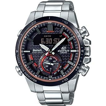 14b1adfd2dcc Casio Reloj Analógico para Hombre de Cuarzo con Correa en Acero Inoxidable  ECB-800DB-1AEF  Amazon.es  Relojes
