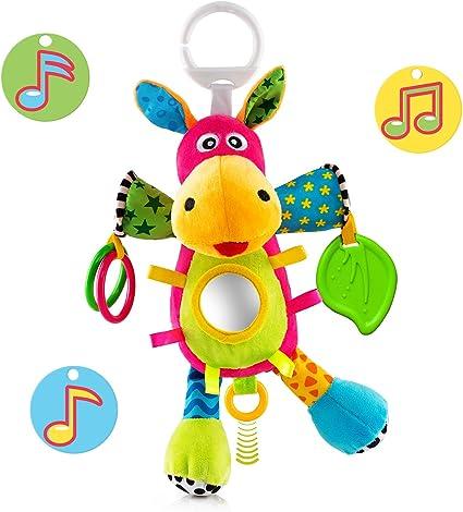 Lovely Musical Soft Animal Crib Plush toy Developmental Child Baby Rattle Toy OK