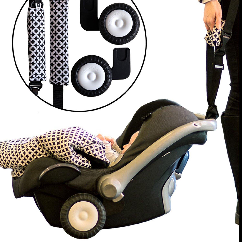 Rollersy Ruedas Adaptadores Para Silla De Coche Viaje Para Ninos Rosa Claro: Amazon.es: Bebé