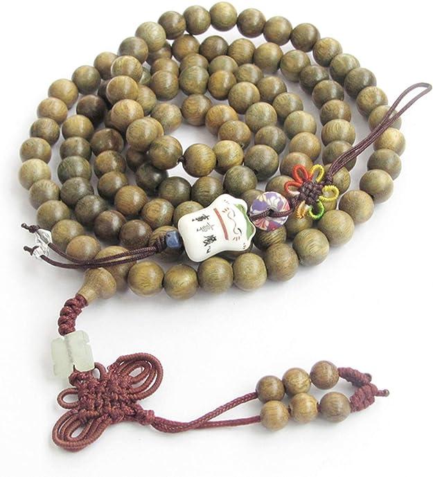 Healing the Healer Hand knotted Full 108 Beads Mala Connection to Higher self Prehnite Mala beads 8mm Beads Mala Prayer Beads Yoga