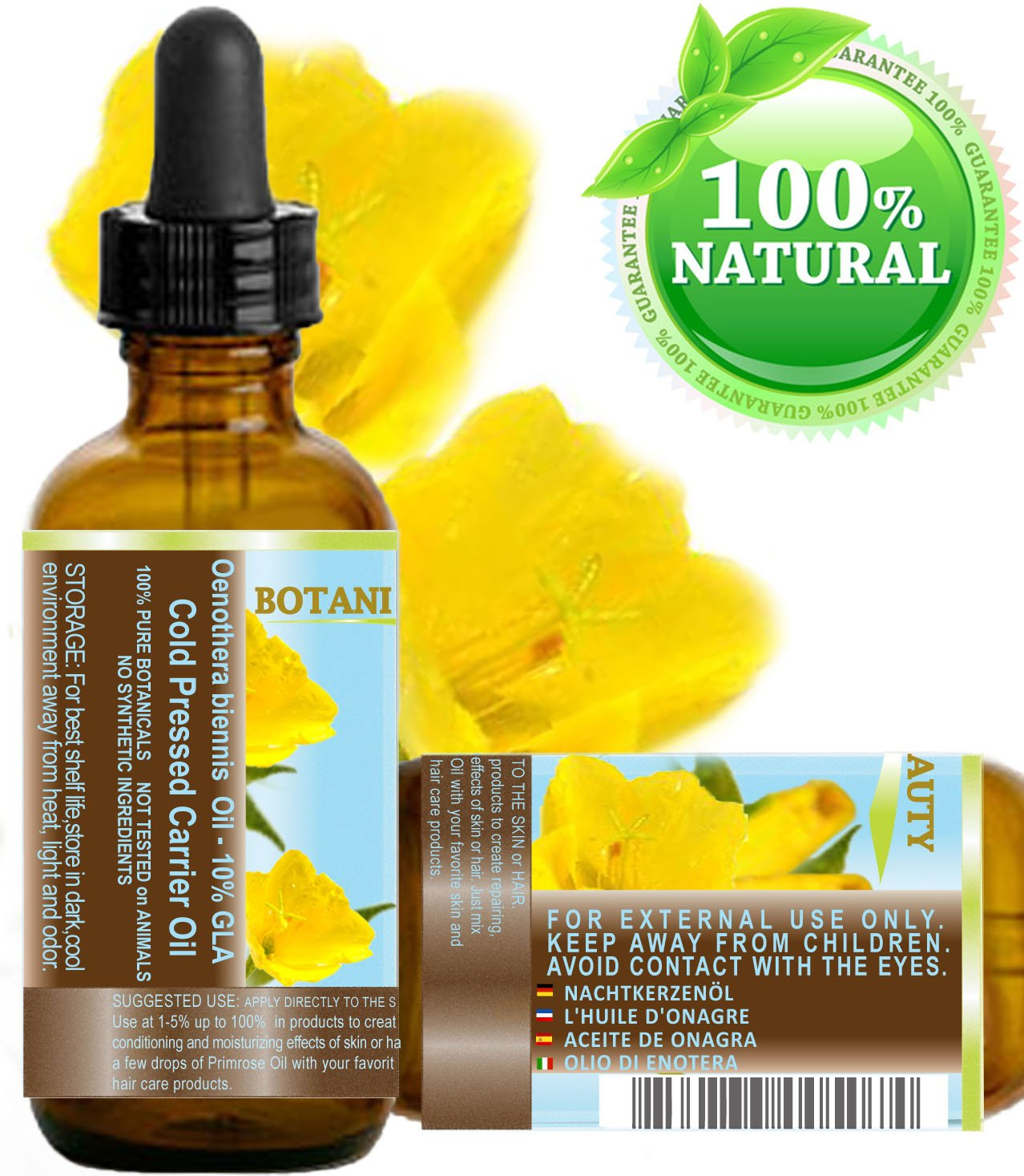 100% Pure / Natural / Undiluted / Refined / Cold Pressed Carrier Oil. Rich antioxidant to rejuvenate and moisturize the skin and hair. (0.5 Fl. oz. - 15 ml.