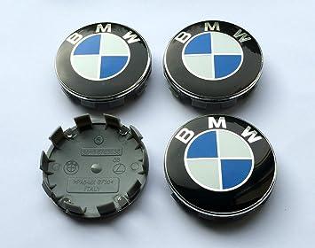 4 logos de BMW de alta calidad con el emblema de cobertura para las tapas de las ruedas. Emblema de 68 mm: Amazon.es: Coche y moto