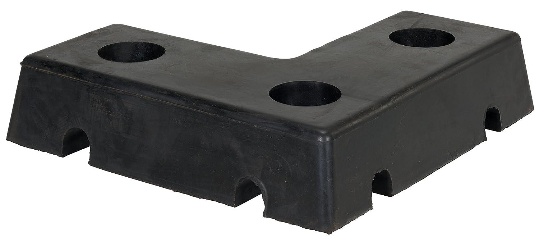 K /& R H-10B Flat Cushion Horizontal-Vertical Dock Bumper Black