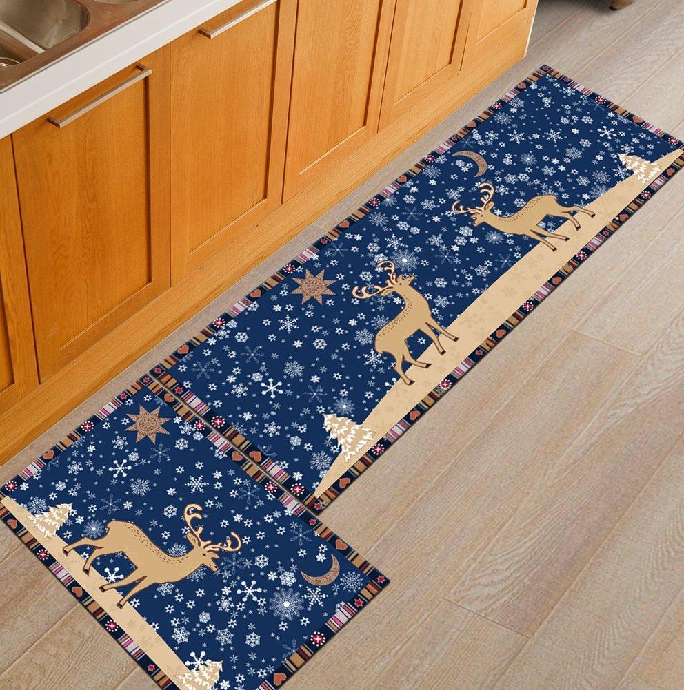 1 Pcs AiseBeau Comfort Flannel Kitchen Rug European Style Kitchen Floor Mat Non-Slip Kitchen Mat Soft Kitchen Runner Bedside Runner Entrance Runner Door Mat Mashine Washable 23.6X35.4 IN