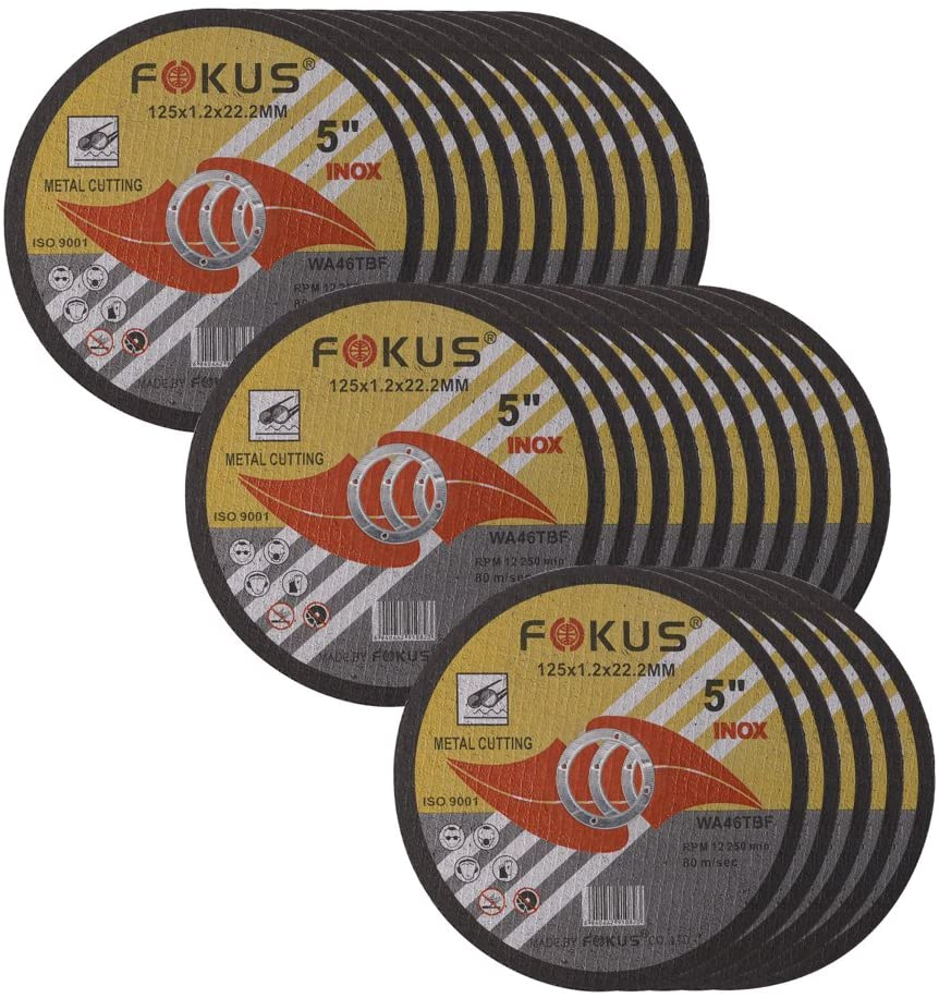 7//8 Arbor Pack of 50 FOKUS Ultra Thin Disc 4-1//2 by 0.045 Metal and Stainless Steel Cut Off Wheels