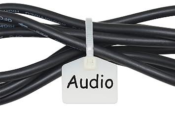 Mr-Label 110 mm Nylon Kabel Kabelbinder Tags Etiketten Marker ...