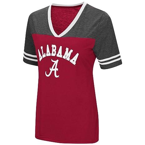 e7498b6ab07d Colosseum Women's NCAA Varsity Jersey V-Neck T-Shirt-Alabama Crimson Tide-