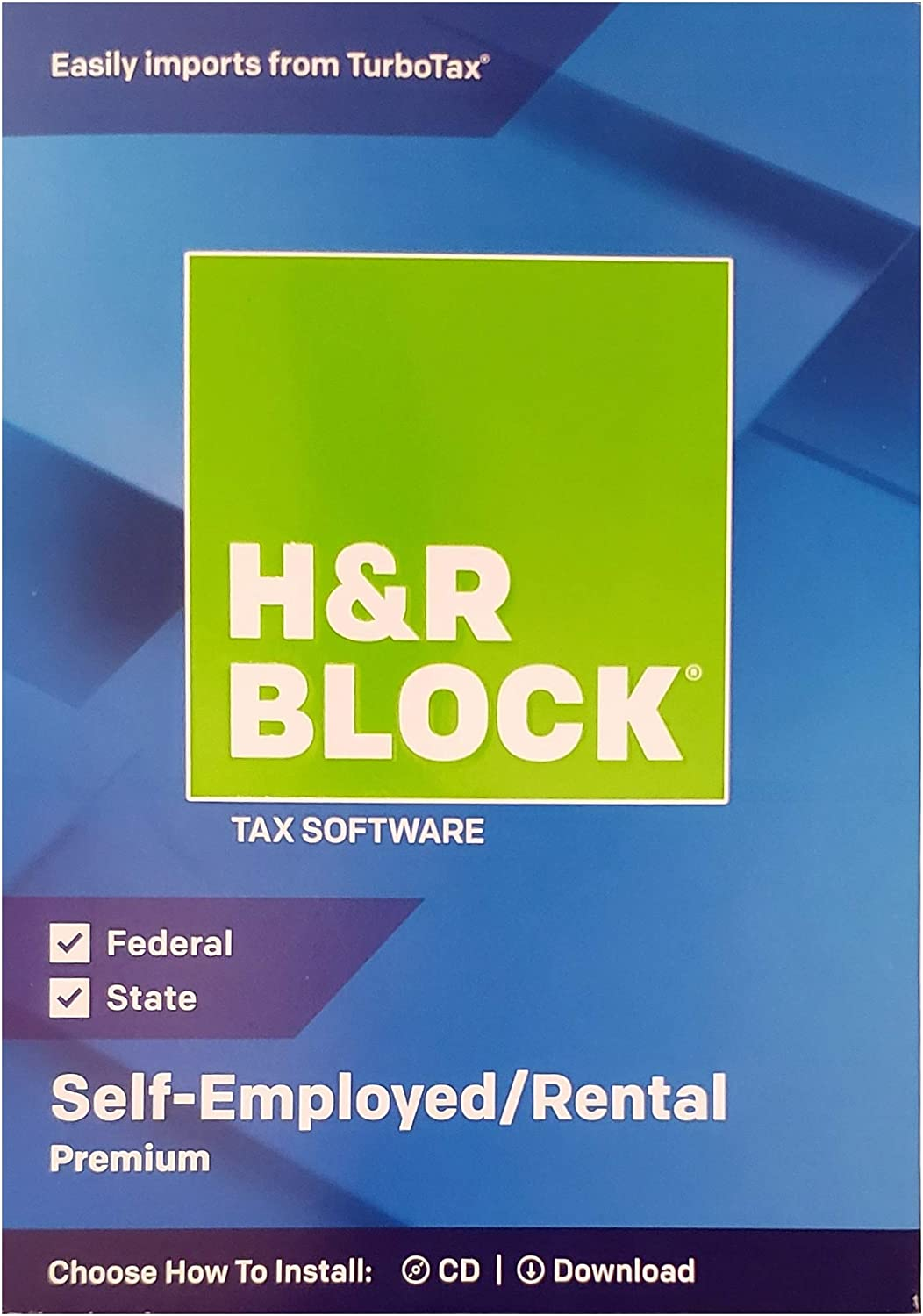 H&R Block Premium 2018 Self-Employed/Rental Property Owners Tax Software, Traditional Disc