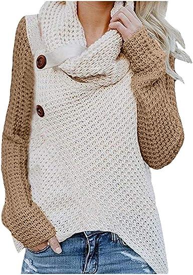 Women Long Sleeve Irregular Sweatshirt Pullover Hoodies Jacket Knitted Sweater