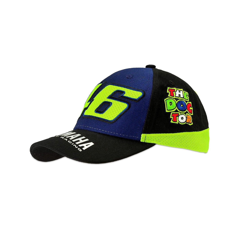 Bambino bimbo cappellino berretto cappello frontino Yamaha VR46 Valentino Rossi originale ufficiale MotoGP YZR M1 diapason logo giallo blu collezione factory racing