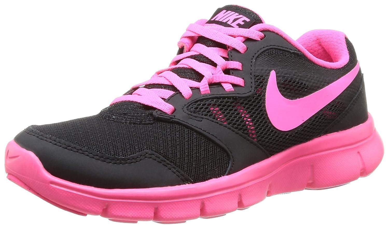 Nike Flex Experience 3 Run Girls Running Shoes 5 M US Big Kid, Black//Hyper Pink