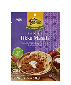 ASIAN HOME GOURMET Spice Paste for Indian Tikka Masala Curry 1.75 Ounce (Pack of 3)