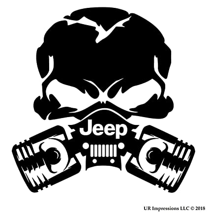 Amazon Com Ur Impressions Blk Jeep Piston Gas Mask Skull Decal