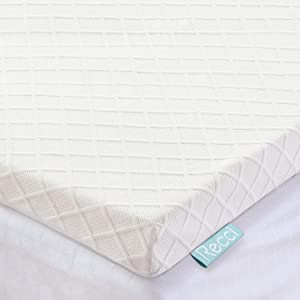 RECCI 3-Inch Memory Foam Mattress Topper TwinXL, Pressure-Relieving Bed Topper, Memory Foam Mattress Pad with Bamboo Viscose Cover - Removable&Washable,CertiPUR-US(Twin XL Size)