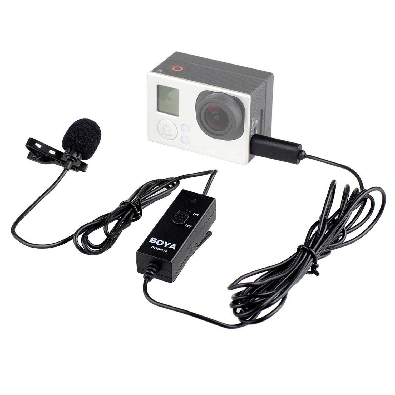 BOYA BY-GM10 GM10 Omni-direktionale Audio Lavalier Mikrofon Mikrofon für GoPro Hero4 3+3 mit Geschenk