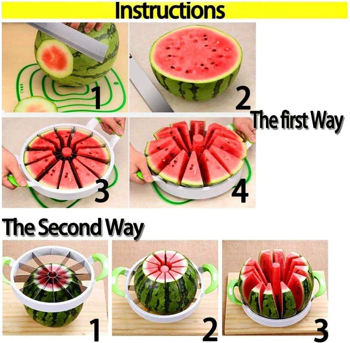 in acciaio inox misura grande per la casa per frutta e melone Affettatrice per anguria