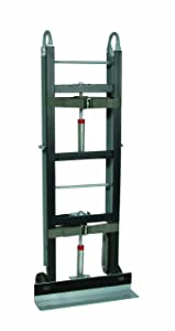 """Wesco 272411 Aluminum Economical Appliance and Vending Truck with Auto Rewind Dual Ratchet, Moldon Rubber Wheels, 550-lb. Load Capacity, 61"""" Height, 12"""" Length x 24"""" Width"""