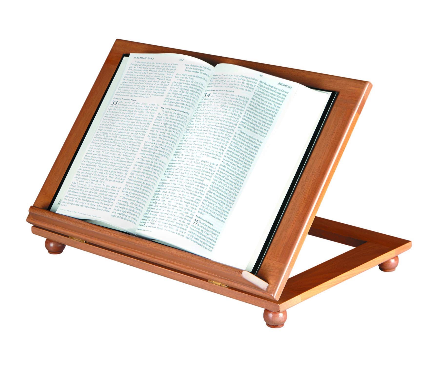 US Gifts Tdjustable Bible Stand-Pecan