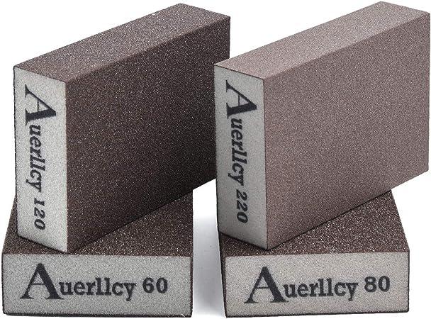 Hicollie 4 Pieces Sanding Sponge Wet and Dry Sanding Block Coarse//Medium//Fine//Superfine 4 Different Sanding Pads 4 Blocks