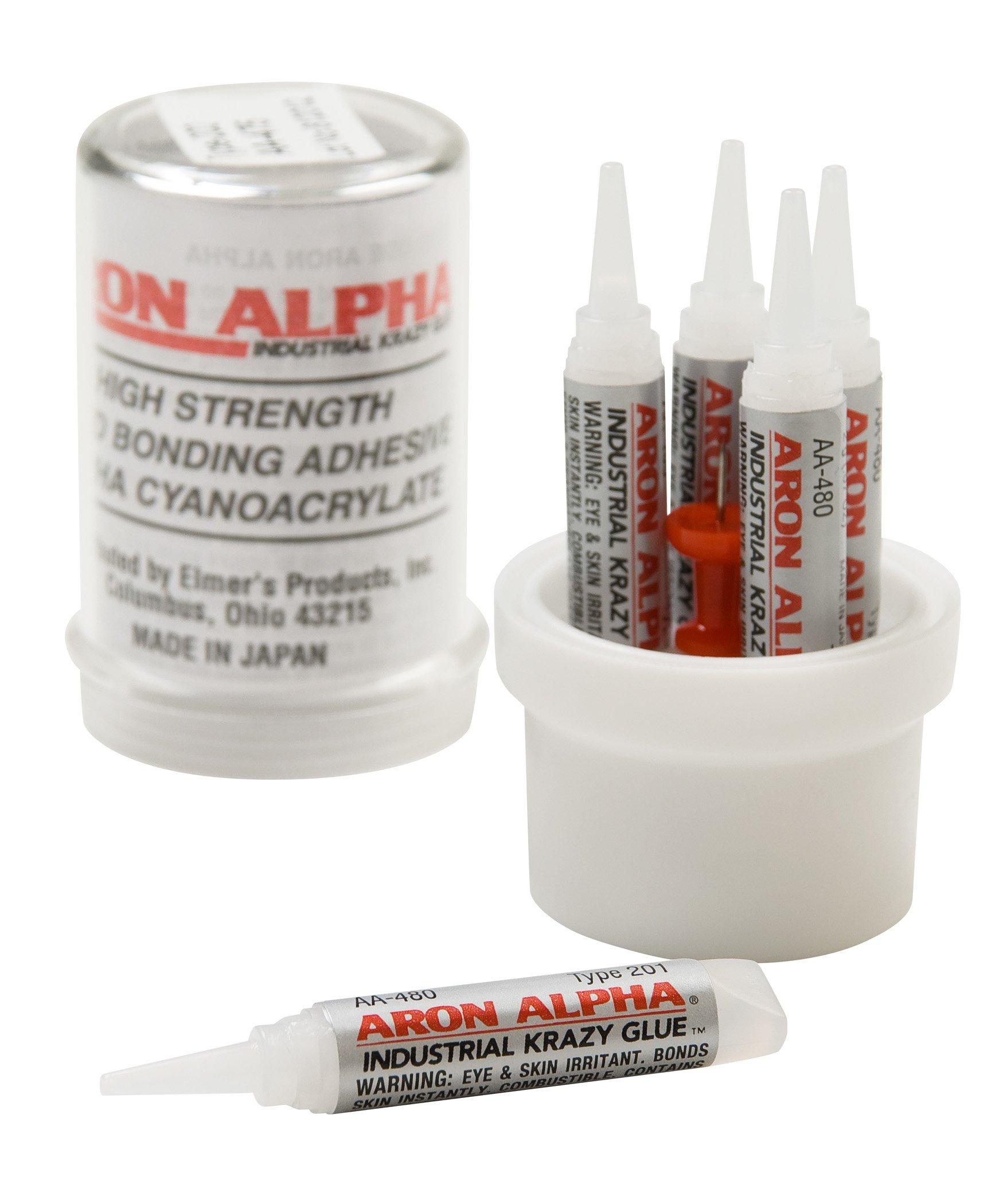 Aron Alpha Type 201 (2 cps viscosity) Regular Set Instant Adhesive, 10 g Capsule, 5 Tubes x 2 g (0.07 oz)