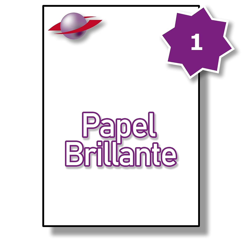 1 1 1 Par Hoja, 50 Hojas, 50 Etiquetas. Label Planet® Etiquetas de papel blanco brillante A4 para impresión láser 210 x 297mm, LP1/210 GW. 2c16cf