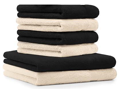 Betz Juego de toallas de 6 piezas toalla de baño ducha mano PREMIUM 100% algodón