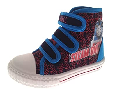 BOYS OFFICIAL THOMAS THE TANK ENGINE BLUE CANVAS PUMPS TRAINERS SHOES SIZE 5-10