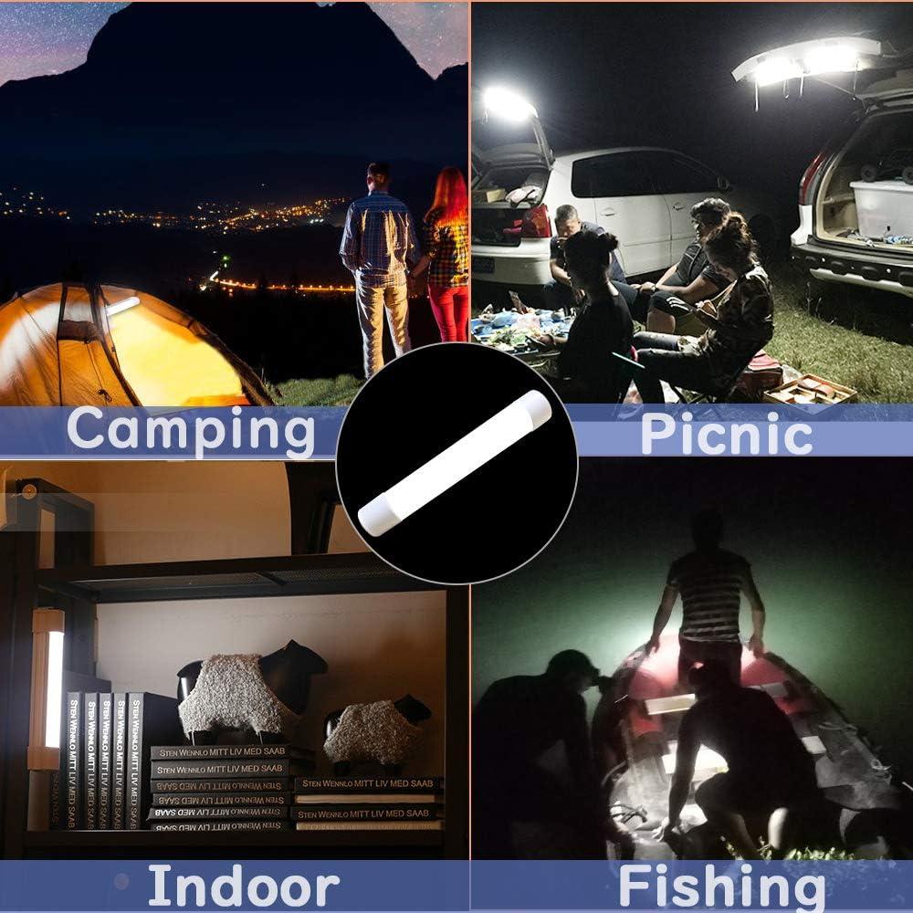 Olliwon LED Campinglampe mit Magnet 4000mAh Powerbank 20 LEDs Werkstattlampen 4 Helligkeiten Dimmbar Camping Laterne f/ür Stromausf/ällen Reparaturen usw. Wandern Camping