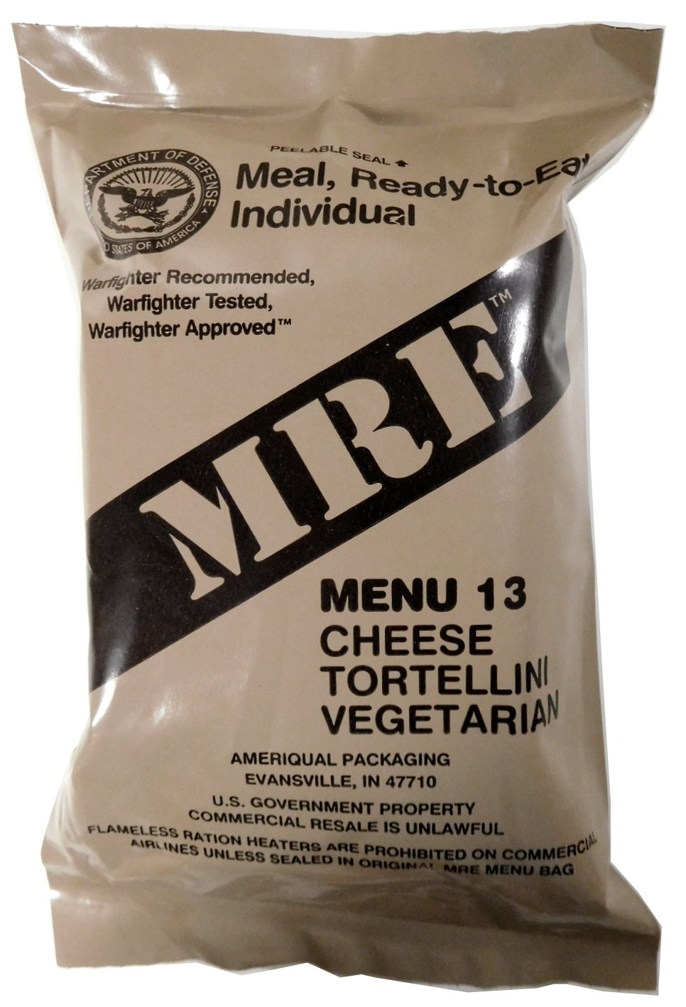 American MRE MENU 13 CHEESE TORTELLINI   2022 USA GENUINE ARMY RATION UP2.48