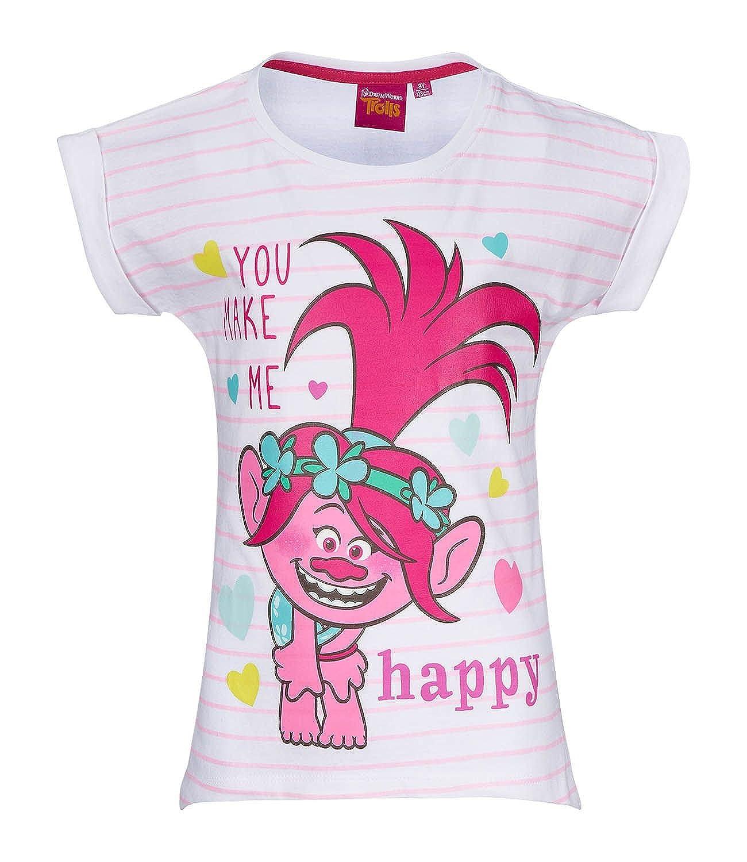 Trolls Girls Short Sleeve T-Shirt - Pink