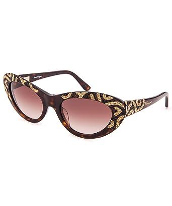 5fc02f73bc54d Image Unavailable. Image not available for. Color  Ferragamo Women s Cat  Eye Sunglasses - Tortoise